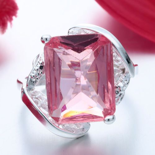 Women-Fashion-Pink-Sapphire-Ring-925-Sterling-Silver-Wedding-Engagement-Jewelry