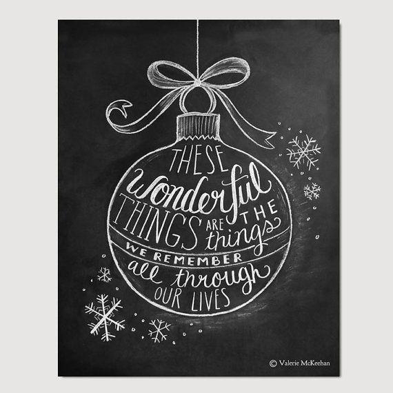 Christmas Ornament Illustration 8 x 10 Print by LilyandVal