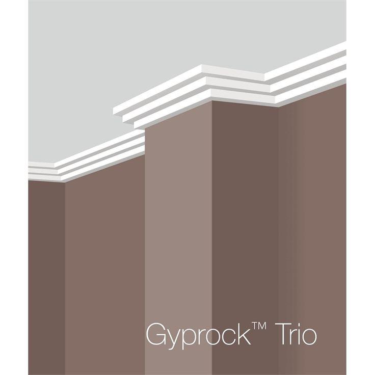 Gyprock CSR 75 x 4800mm Plaster Cornice Trio