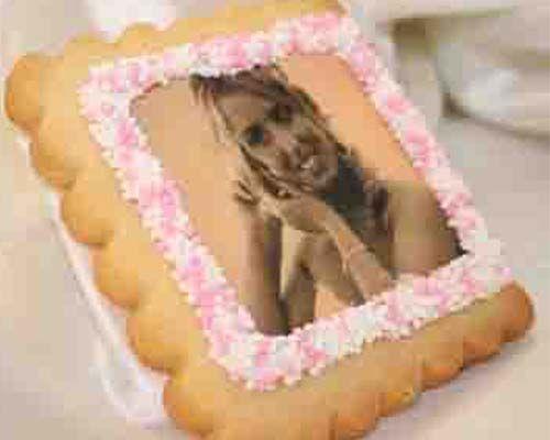 galleta con fotografía