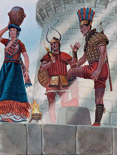 Sea Peoples in Sardinia, c. 1100 BC ~ art by Giuseppe Rava