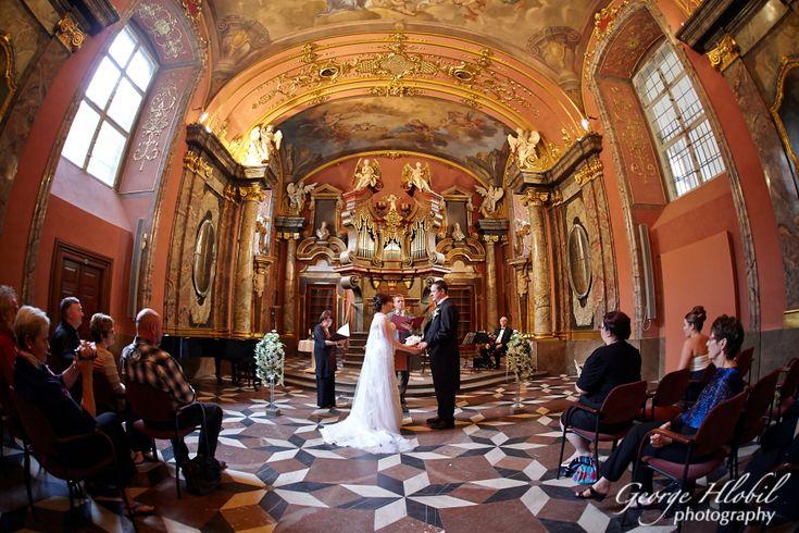 Wedding in Prague Clementinum  - Prague wedding pictures, see more at www.georgehlobil.com #destinationwedding #praguewedding #weddingpictures #weddingphotography #clementinum #weddingabroad