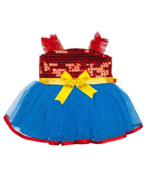 Red Blue Sequin Dress Build A Bear Workshop Cuddle Buddies