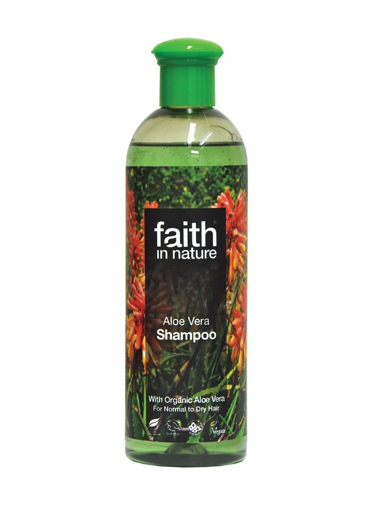 Faith in Nature Aloe Vera Shampoo  Skilfully developed with beneficial aromatherapy oils by our own experts to nourish hair and scalp, using Nature's ingredients while caring for the environment. Part of our award winning range of natural beauty products. High in active Organic Aloe Vera which contains many enzymes, amino acids and polysaccharides shown to be beneficial to hair and scalp. It regenerates hair and balances sebum oil production from the scalp, ensuring hair is not too dry or…