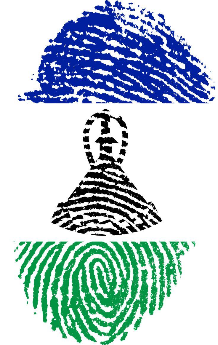 Lesotho Flag Fingerprint Country transparent image