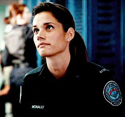 Missy Peregrym as Officer Andy McNally on Rookie Blue