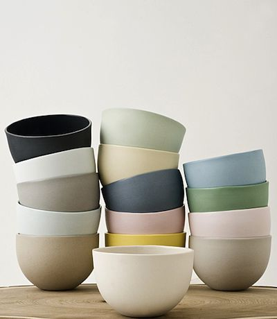 MUD. Bowls. Ceramic. Muted