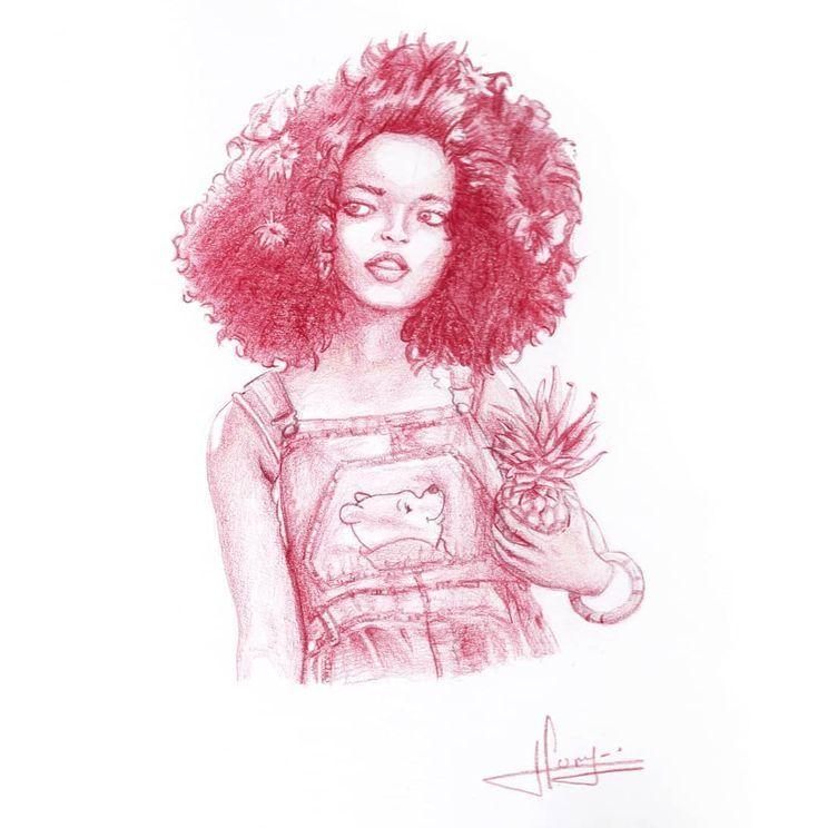 Woman Portrait with polychromos pencil . . #pencilart #illustrationsketch #arti… #Tattoos #Ale