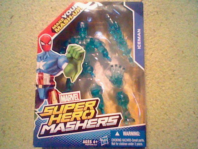 New Marvel Super Hero Mashers Iceman! In Box, Xmen Ice Man Xman #Hasbro