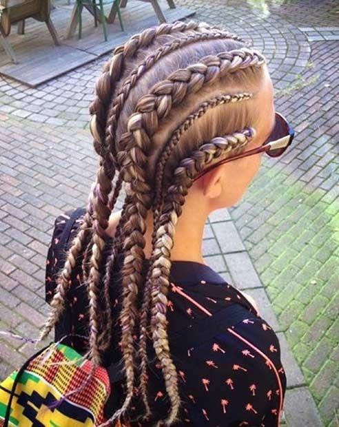 Cool Dutch Braid Cornrows for White Women