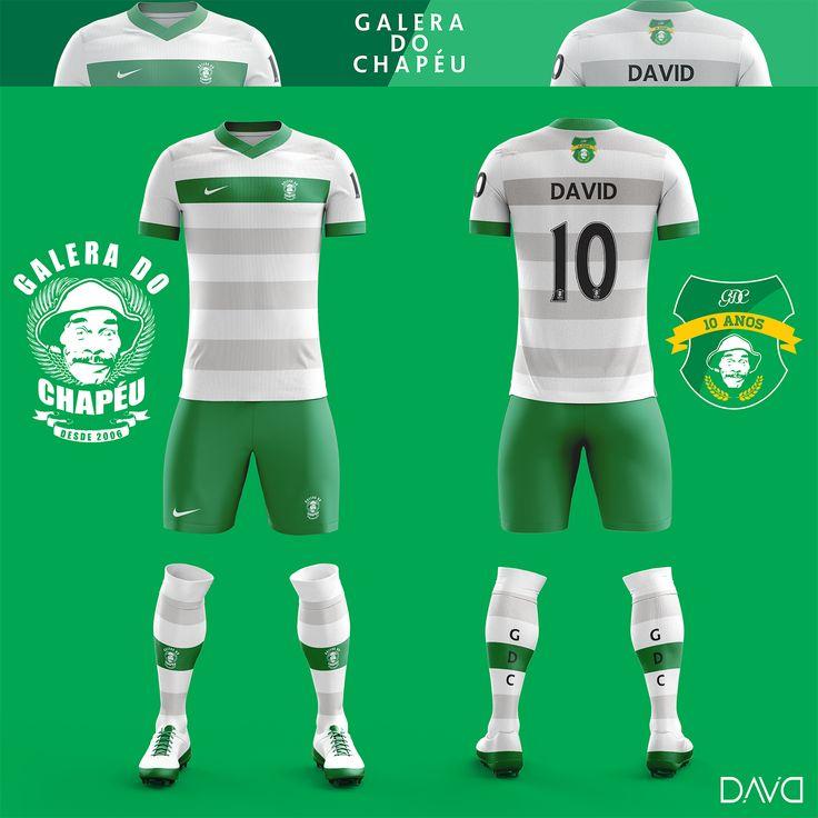Uniforme de futebol criado em comemoração aos 10 anos de criação da turma de amigos Galera do Chapéu, a GDC.