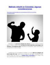 Maltrato infantil en Colombia: algunas consideraciones