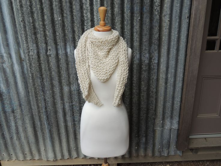 Cream scarves and wraps - so easy for winter.