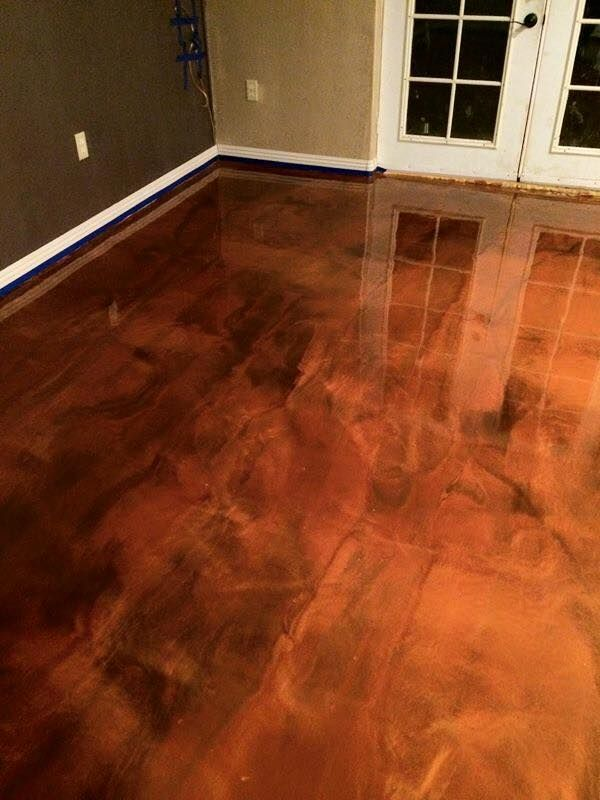 Epoxy Flooring Baton Rouge La Brown Copper Metallic