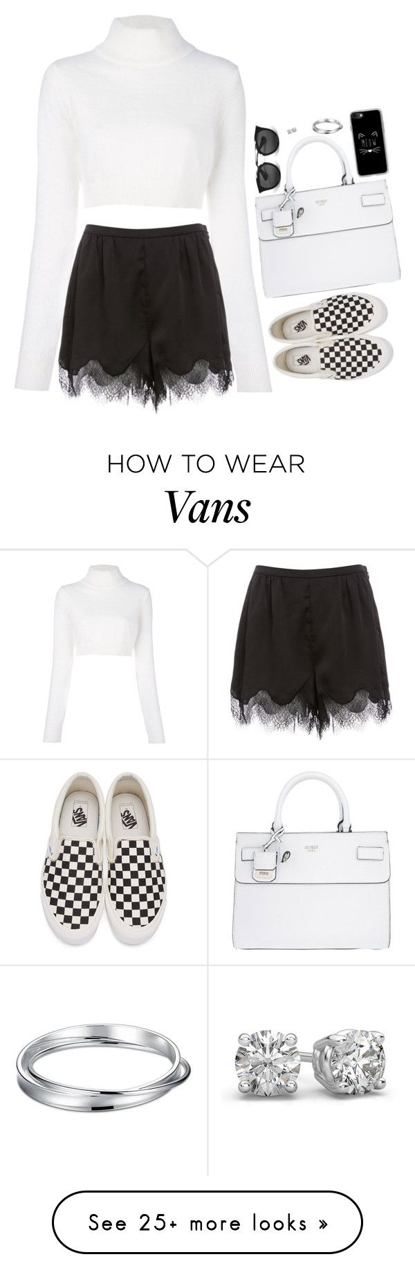 """""""Untitled #6571"""" by miki006 on Polyvore featuring Balmain, GUESS, Casetify, Prada and Vans"""