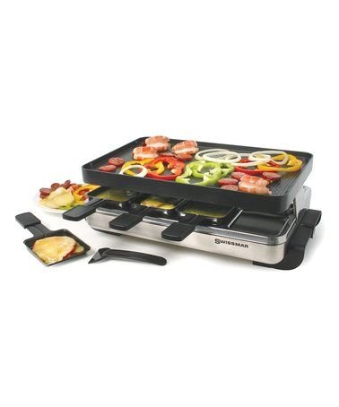 Love this Eight-Piece Stainless Steel Grill Raclette Set on #zulily! #zulilyfinds
