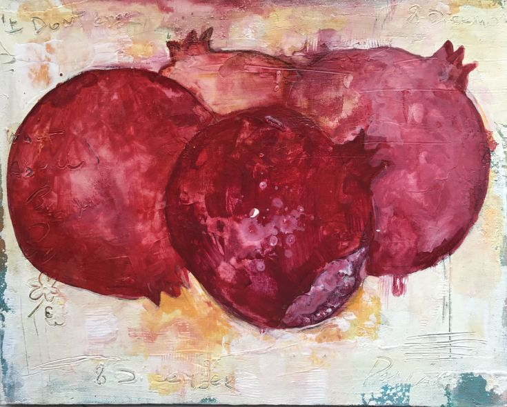 Buy Pomegranate, Acrylic painting by Olga Pascari on Artfinder. Discover thousands of other original paintings, prints, sculptures and photography from independent artists.