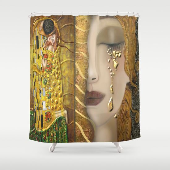 My Klimt Serie:Gold Shower Curtain - Best 25+ Gold Shower Curtain Ideas On Pinterest Shower Curtain