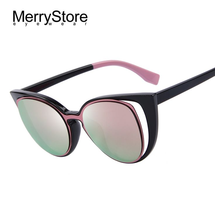 Купить товарMerrystore мода кошачий глаз солнечные очки женщин модной ретро пирсинг женский солнцезащитные очки óculos de sol feminino UV400 в категории Солнцезащитные очкина AliExpress.