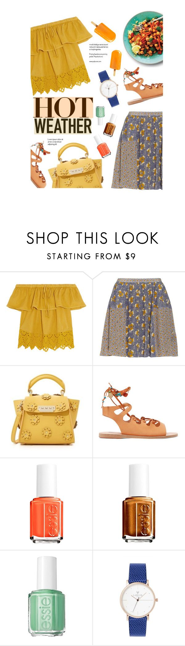 """""""""""Who, being loved, is poor?"""" - Oscar Wilde"""" by are-you-with-me ❤ liked on Polyvore featuring Madewell, SUNO New York, ZAC Zac Posen, Ancient Greek Sandals and Essie"""