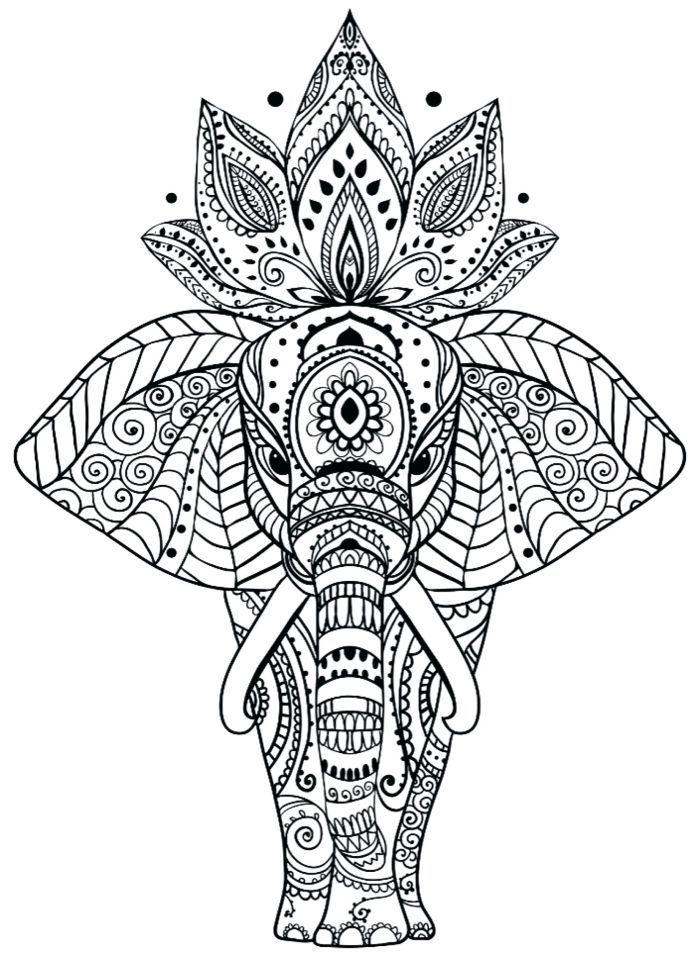 Schone Bilder Zum Nachmalen Mandala Tier Elefant Mit Lotusblume Am Rucken Geometrische Und Flor In 2020 Mandala Tiere Bilder Zum Nachmalen Mandala Malvorlagen Tiere