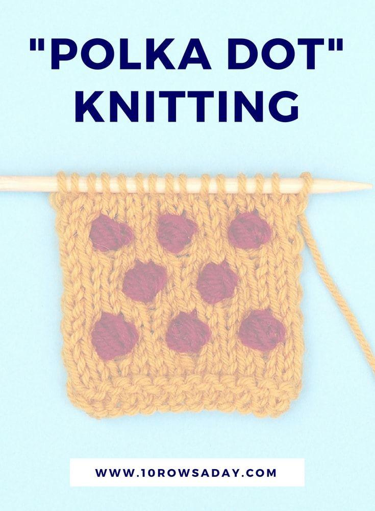 Mosaic Knitting - Colour Knitting Stitch Pattern Right Side Vs