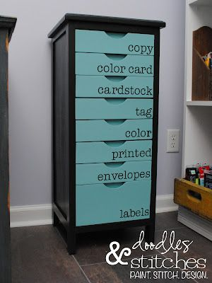 CRAFT ROOM PAPER STORAGE - so cool, I want to make it!  But room in the guest room/office for it? I think it's from Ikea.