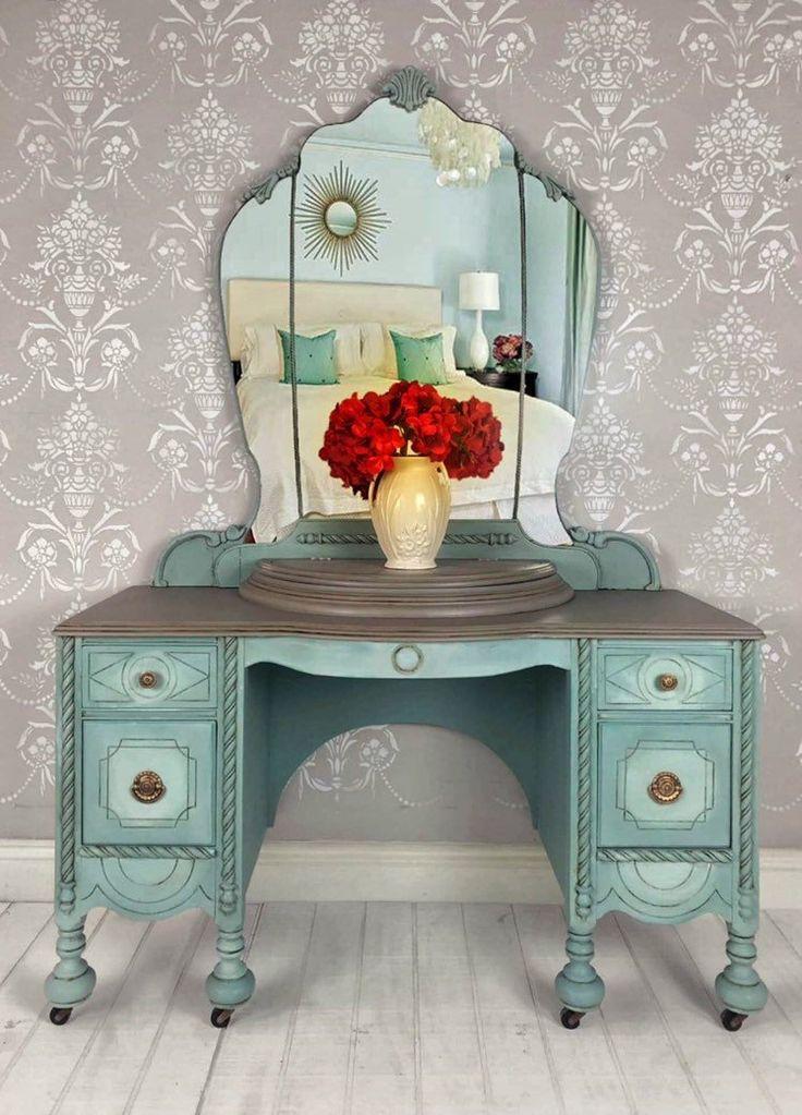 painted vintage vanity - 736×1023