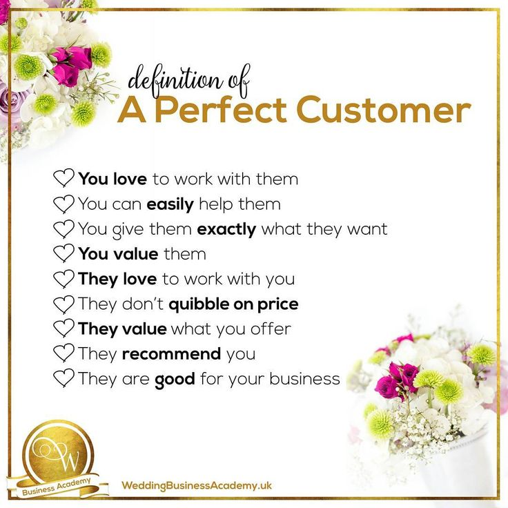 Book more brides with your wedding marketing Does this remind you of one or more of your past and current customers? Your Perfect Customers are who you need to consistently attract to your business.   Zee x
