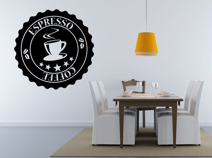 Sticker Mural Cuisine Espresso Coffee   #ZoneStickers #StickerMural #Cuisine #StickerCuisine
