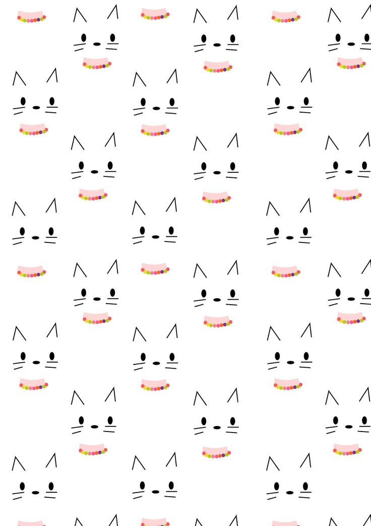 FREE printable kitty CAT pattern paper | minimalism
