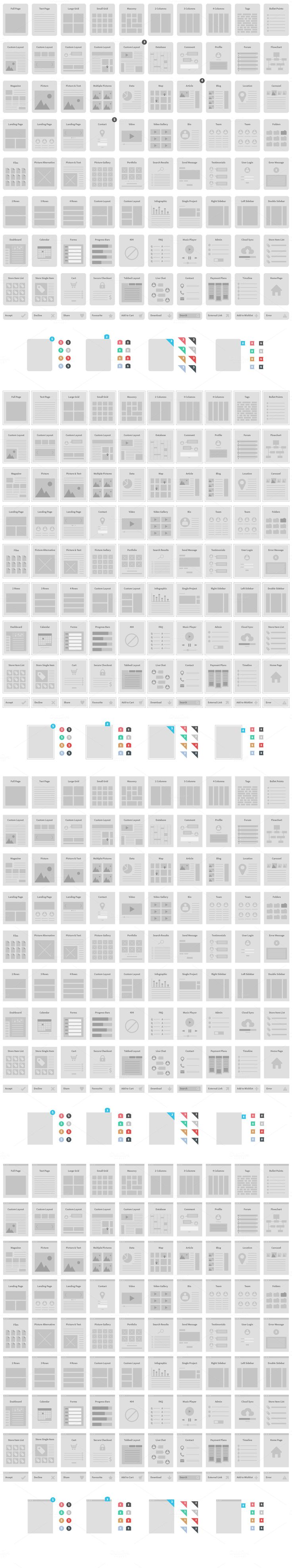 Website Wireframe Kit - Web Elements - 2
