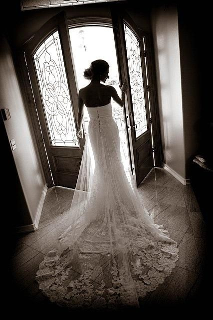 Gorgeous wedding photo ~ does not need to be done day of wedding, can be done long before