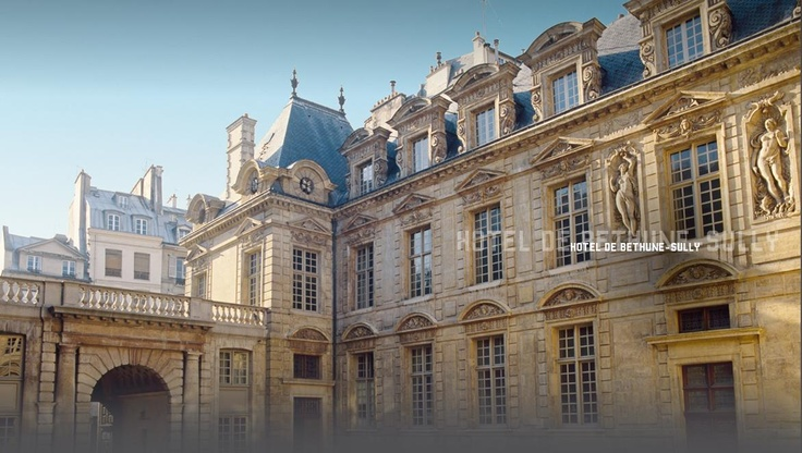 Hôtel de Béthune-Sully in the heart of the Marais, one of the finest Louis XIII buildings in Paris and the residence of the family of Maximilien de Béthune, Duke of Sully, Henri IV's famous minister.