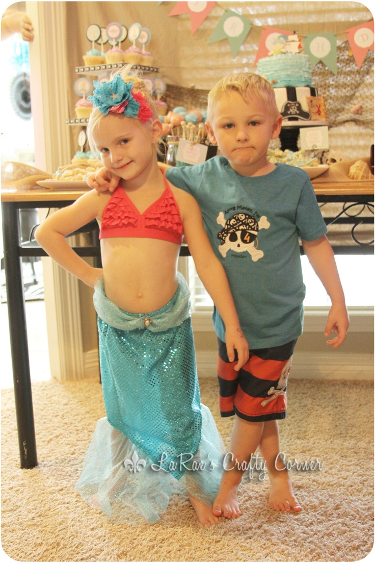 LaRae's Crafty Corner: Pirate Mermaid Brother Sister Joint Birthday Party