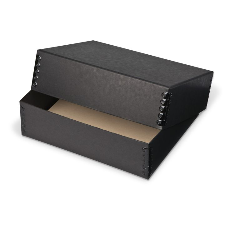 Nice Gaylord® Black Barrier Board Deep Lid Archival Print Box | Storage Boxes |  Photo Print