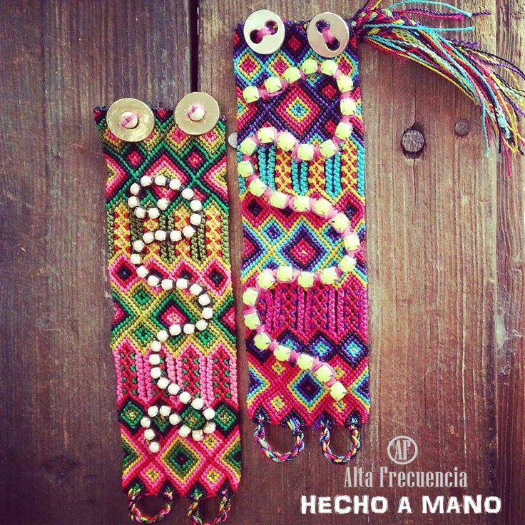 Pulseras hechas a mano, con detalles muy fashion de alta frecuencias mexico accesorios accesorios de autor,