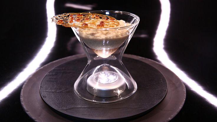 Riz au lait et crème de marron, tuile fine au riz soufflé par Christophe Michalak