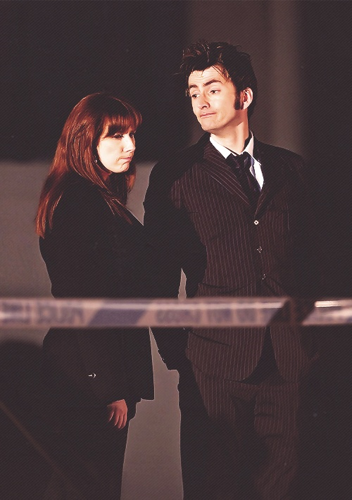 Catherine Tate and David Tennant on-set so adorbs