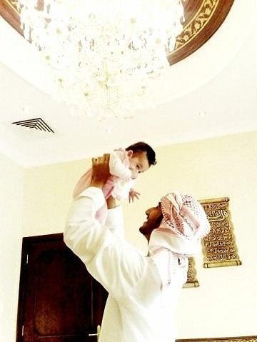 Masha'allah! Daddy and baby!