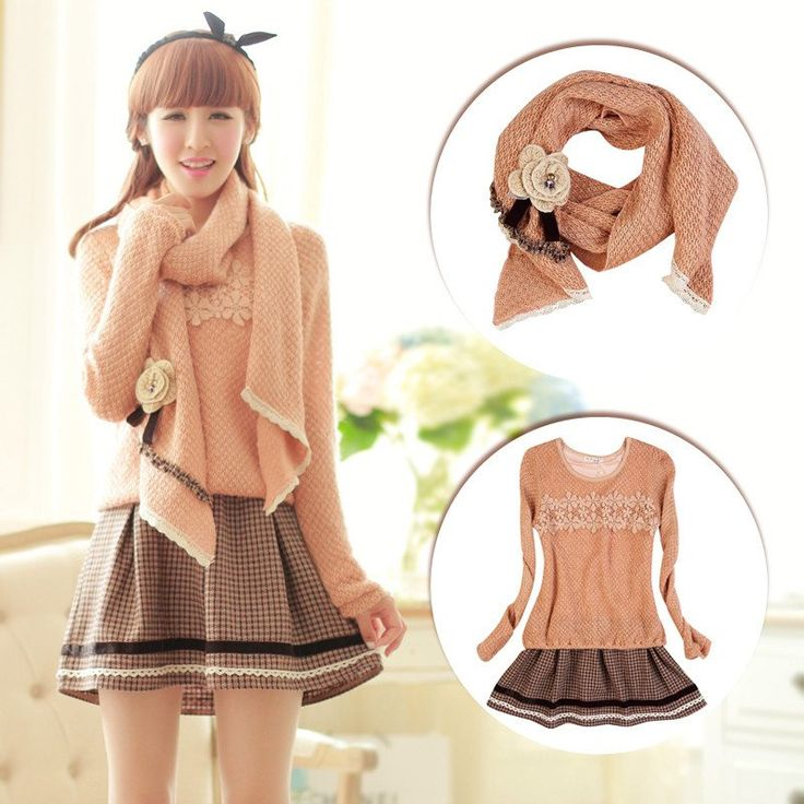 "Japanese sweet knitting sweater dress SE9002   Coupon code ""cutekawaii"" for 10% off"