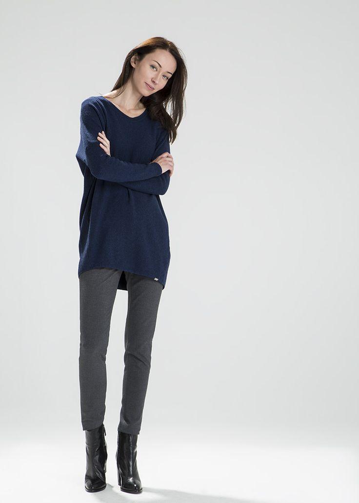 Sweter oversize ze szlachetnej wełny MAKALU