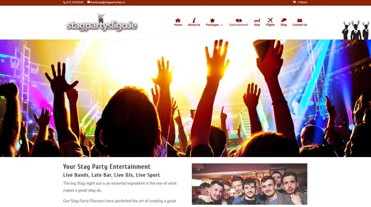 http://www.stagpartysligo.ie - website for stag parties in Sligo, designed and built by www.format.ie web design.