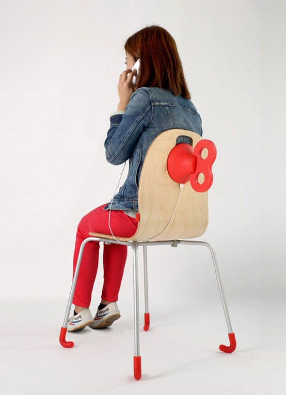The WindUp Chair by PEGA  it s time to sit and charge your phone  l15 best High Tech  Office  Chairs  images on Pinterest   Office  . High Tech Arm Chairs. Home Design Ideas
