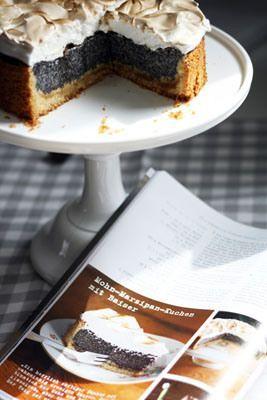 Mohn Marzipan Kuchen Mit Baiser Rezeptangaben Fur 26er Springform