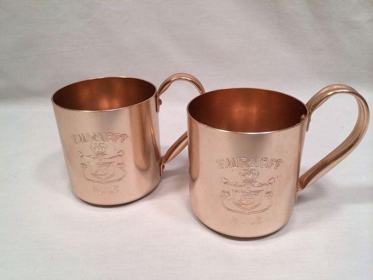 Smirnoff Mule Copper Aluminum Cups Set of 2
