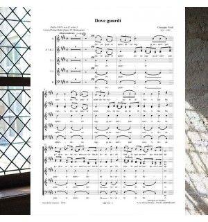 Giuseppe VERDI : DOVE GUARDI (le Trouvère) - partition pour choeur à 6 voix mixtes publiée aux Editions Musiques en Flandres - référence MeF 925