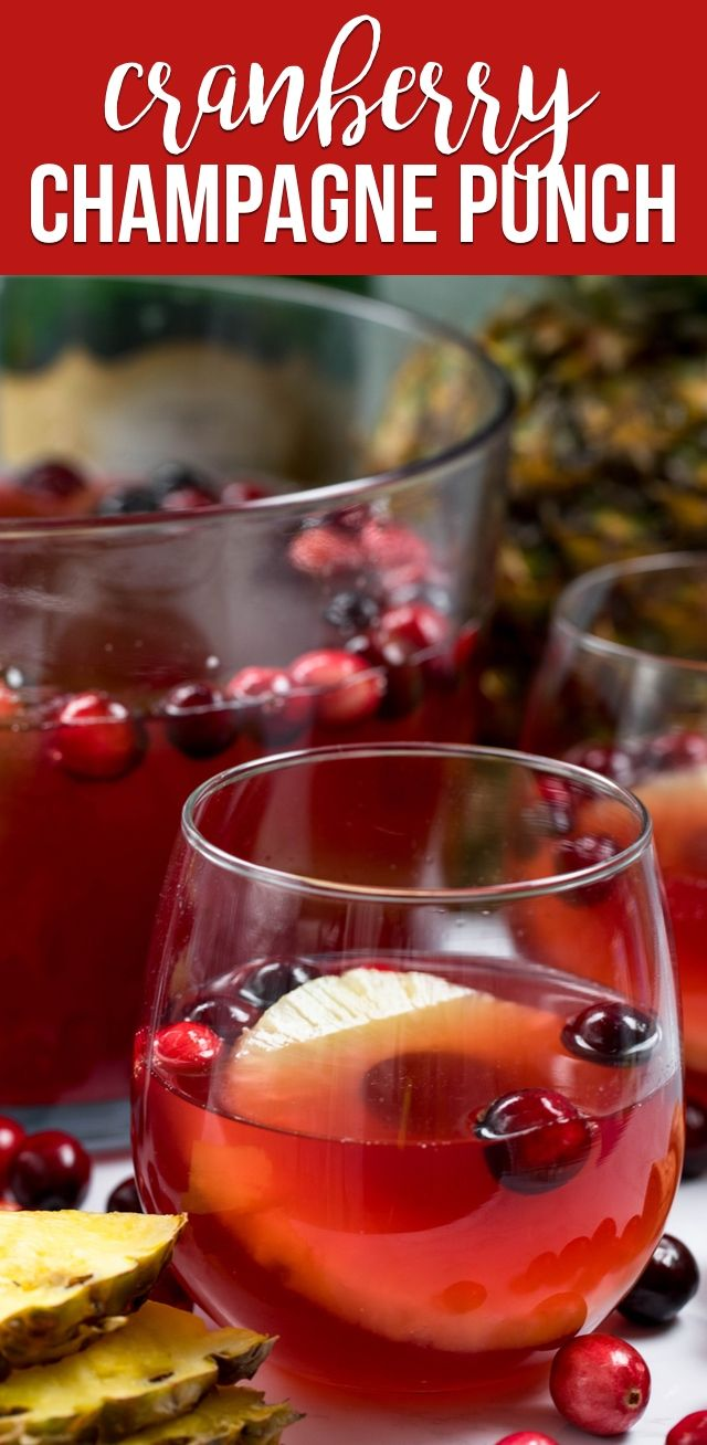 Cranberry Champagne Punch Crazy For Crust Recipe Champagne Punch Recipes Punch Recipes Champagne Punch