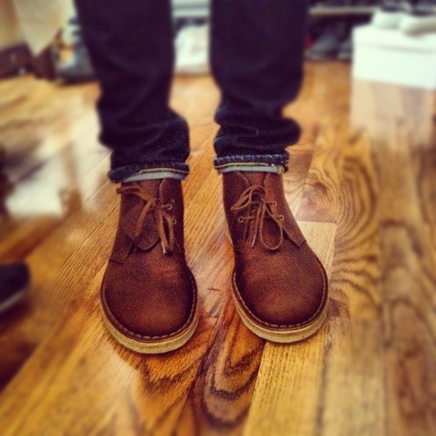 Clarks Desert Boots look great at the office!