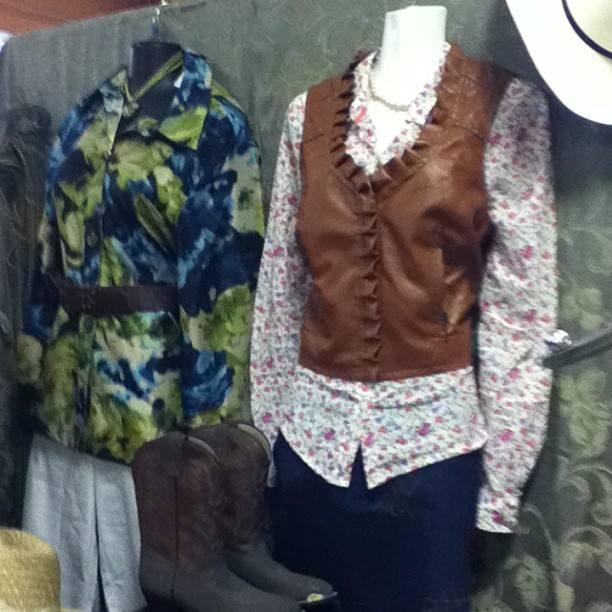 It's stampede season! Vest $19.99, shirt $19.99, skirt 9.99 boots $46.99 #yyc #stampede #thrift